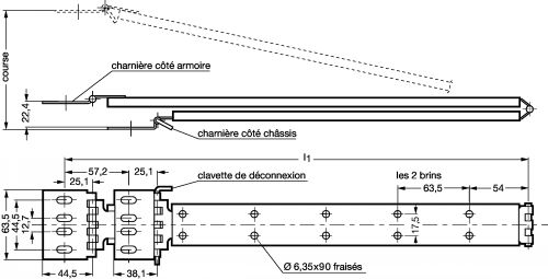 Guide câble ou flexible - Plan